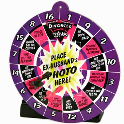 Click to get Divorce Diva Dartboard