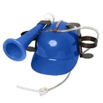 Click to get Drinking Helmet with Horn Blue
