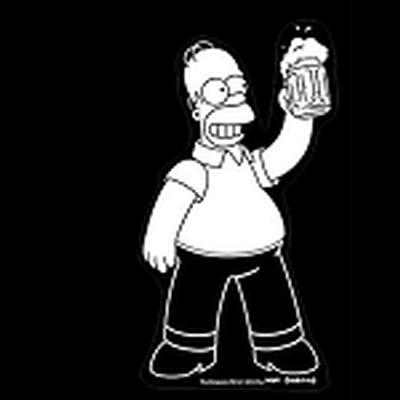 Click to get Simpsons Homer with Beer Car Decal