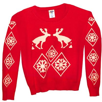 Click to get Knit Ugly Holiday Sweater Pooping Moose