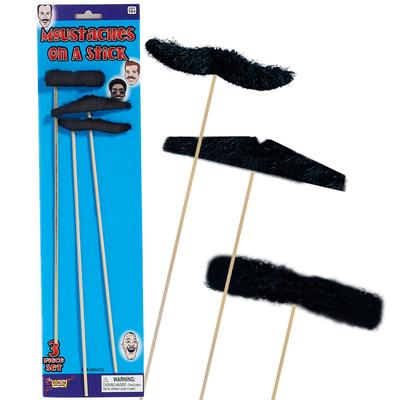 Click to get Moustaches on Sticks Black