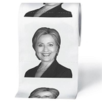 Click to get Hillary Clinton Toilet Paper