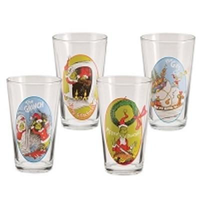 Click to get The Grinch Christmas 4pc Glass Set